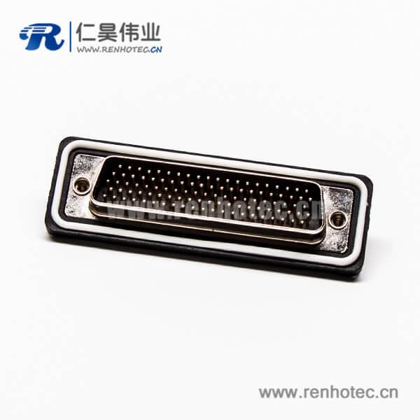 防水d sub104针公头直式车针接线焊接