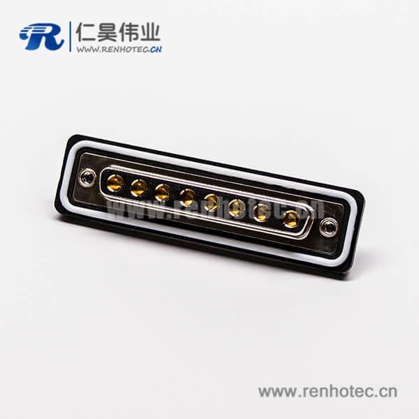 防水d sub连接器8w8大电流母头直式焊线