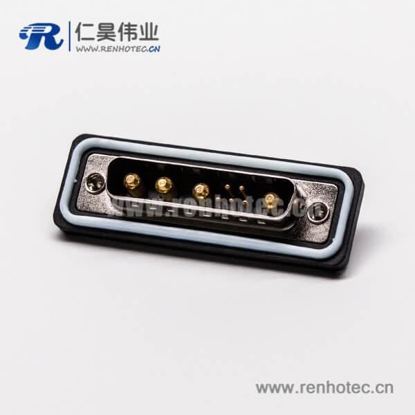 ip67防水db接头直式公头车针焊线大电流连接器