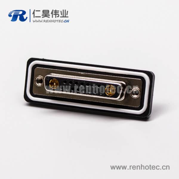 防水db头17w2母头直式大电流连接器焊接