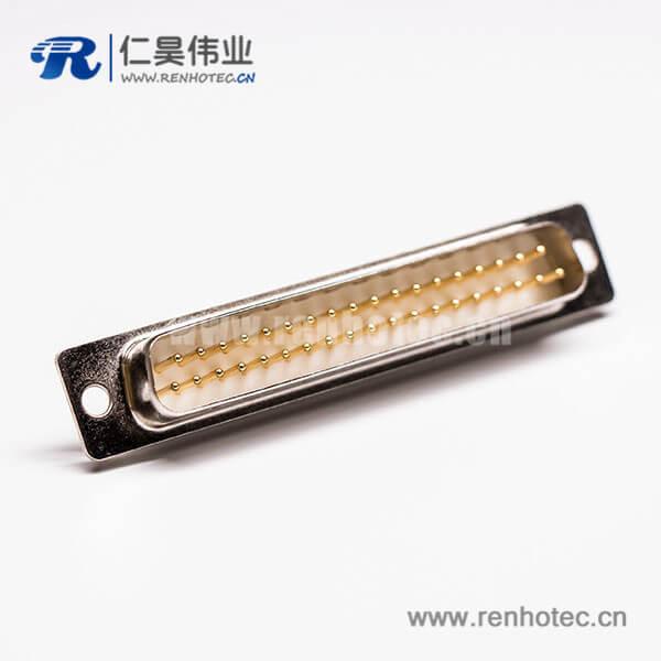 DB37针直针串口公头直式车针连接器接线焊接