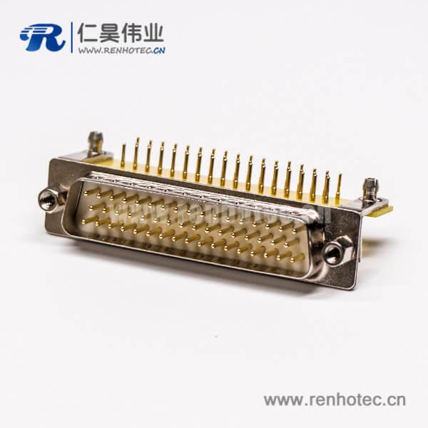 db50 pcb封装弯插公头带金属支架铆锁