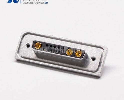 大电流db13w3防水金属面板直式母座接PCB板