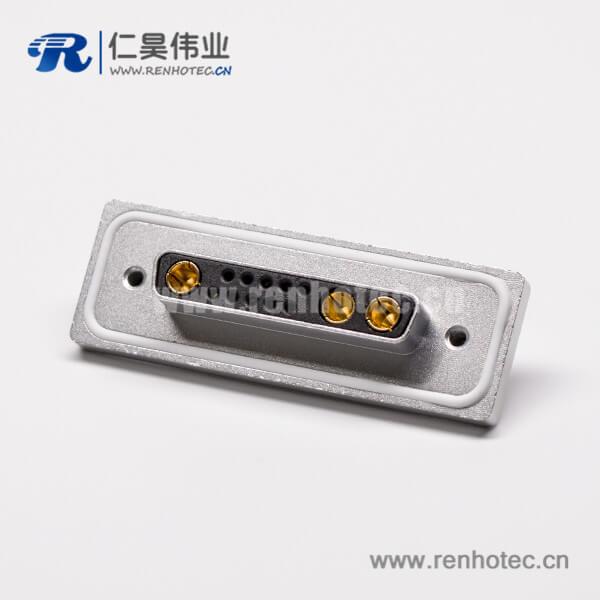 db大电流连接器母头弯式13w3插孔接PCB板