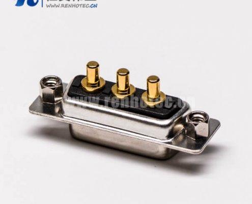 大电流db3w3母座180°焊板铆锁接PCB板混合型连接器