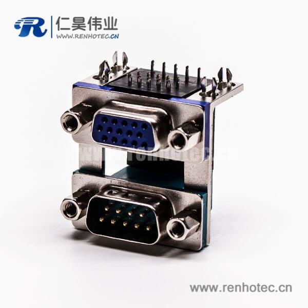 db插头插座公座母座双胞胎连接器9公针15母针5.08铆锁