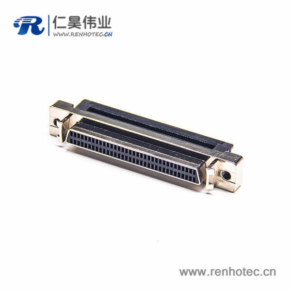 SCSI-68p公头HPDB刺破式插头直式焊接式连接器