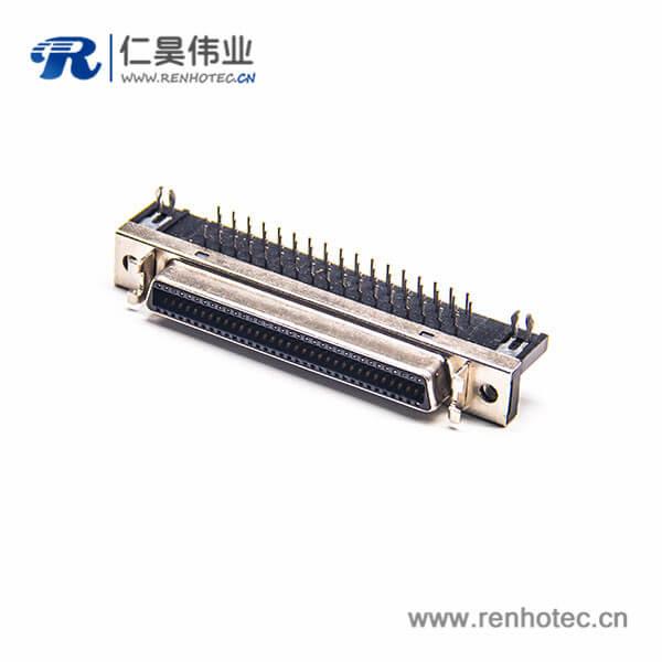 SCSI36连接器HPCN插板插座弯式母头