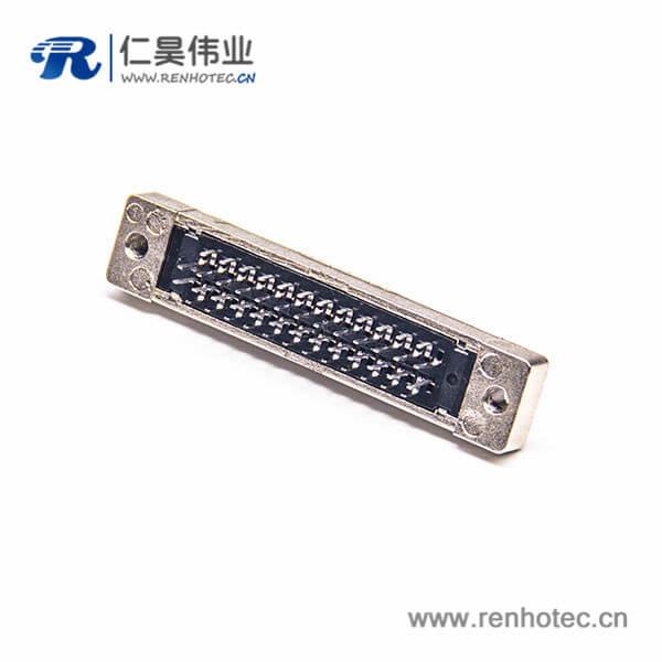 SCSI36HPCN直式母头插座连接器插板焊接式