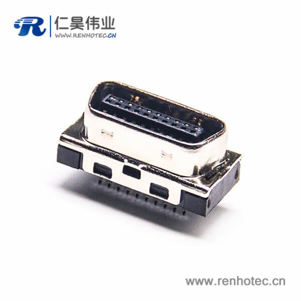 SCSI20针接口HPCN公头直式夹板式插头连接器