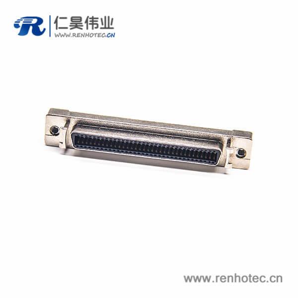 SCSI母头HPCN直式50芯插板插座连接器