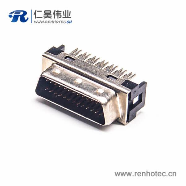 SCSI直插HPDB26芯公头插头连接器刺破式