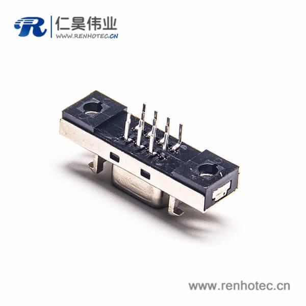 SCSI14HPCN芯直式母头焊接连接器插座插板